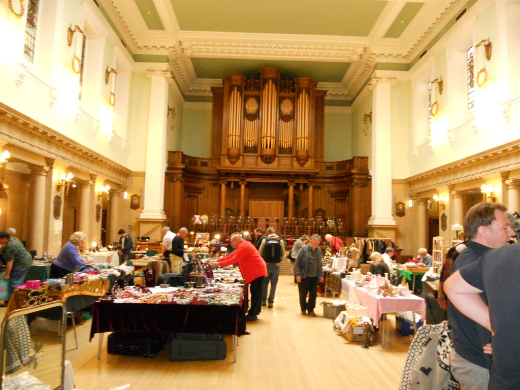 The Main Meeting Room of the Grand Lodge of Scotland, George St, Edinburgh. Used for Charity sales Stalls the day the photo was taken. </strong