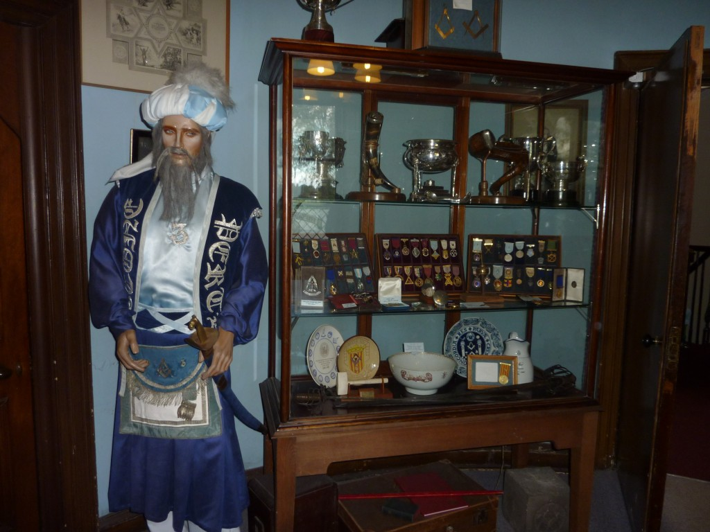 Lodge of Scone (pron, Scoon) Museum in Perth, Perthshire, Scotland. An Ancient Manikin dressed as one of their earlier Tylers.