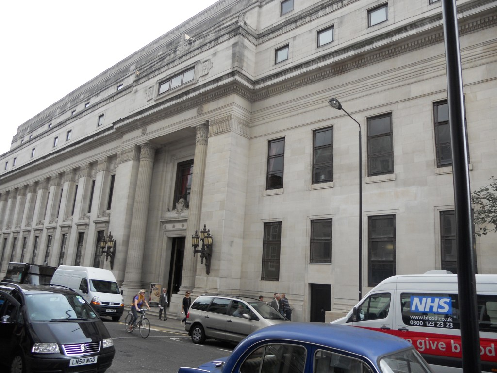 The United Grand lodge of England Building, 60 Great Queen St, London.