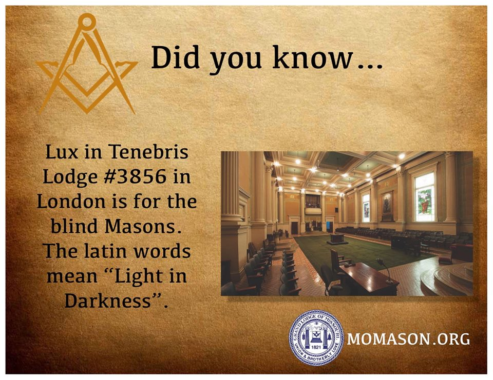 Lodge for Blind Freemasons